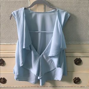 Rebecca Minkoff open back blouse